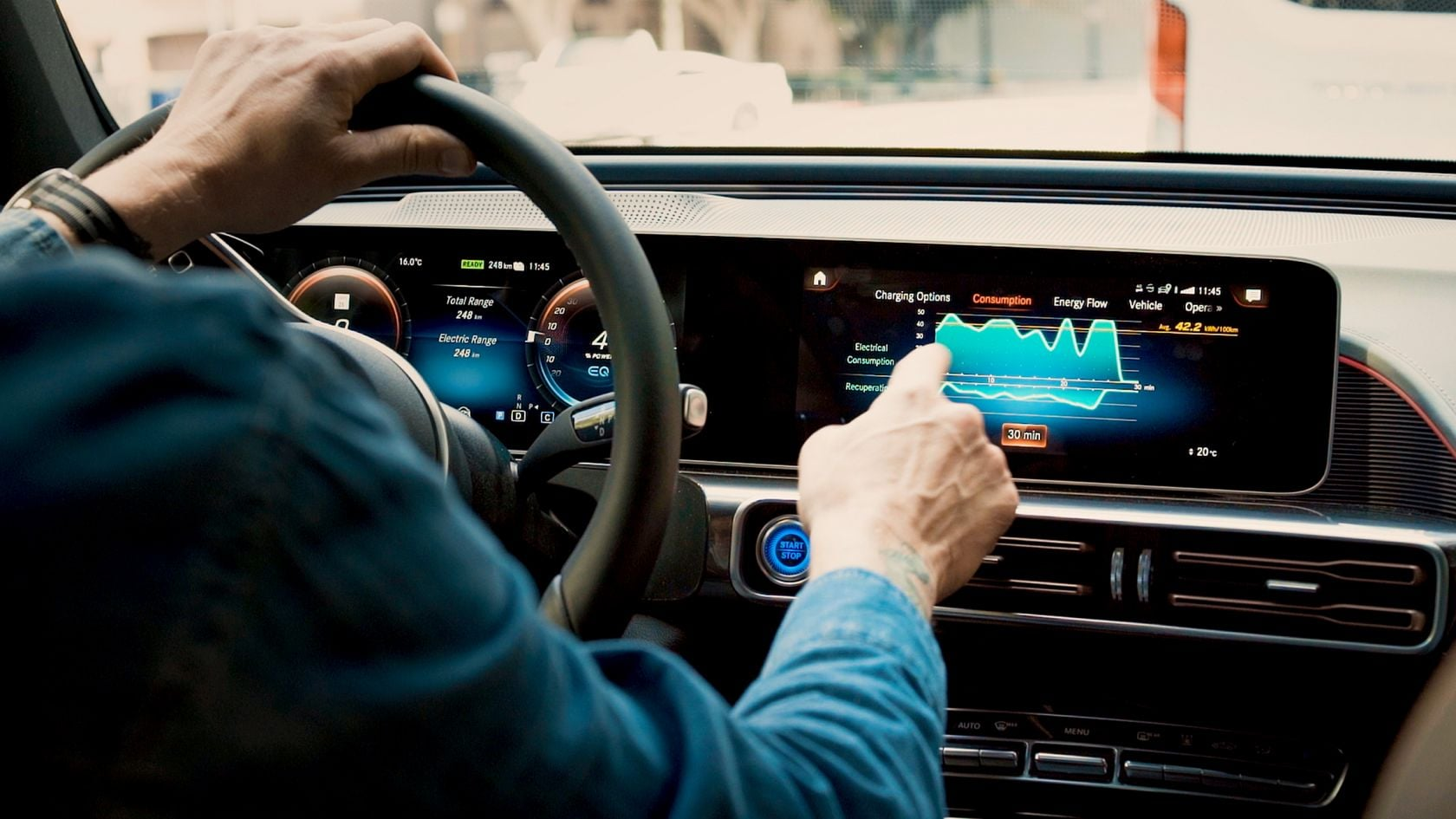 Dashboard of THE LATEST MERCEDES BENZ EQC AVAILABLE AT 1 CR